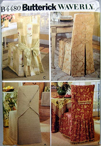 Amazon.com: Butterick Sewing Pattern B4480 Chair Covers In Four Styles