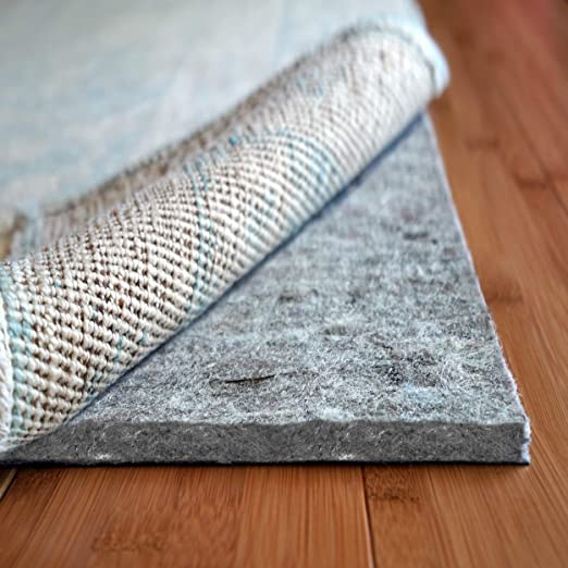 Non Slip Rug Pad 4 X 6 Ft Extra Thick Gripper For Any Hard Surface Floors WHITE