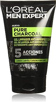 L'Oréal Paris Gel de Limpieza Facial de Men Expert, Pure Charcoal, 100 ml