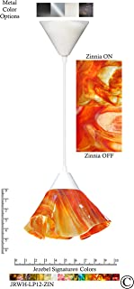 product image for Jezebel Signature JRWH-LP12-ZIN White Lily Pendant, Small, Zinnia
