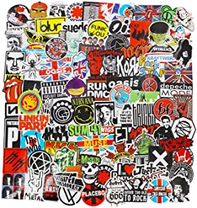 CHNLML Cool Sticker Punk Rock Band Stickers 100PCS Stickers Pack Rock and Roll Music Stickers Vinyl Waterproof Decals for Electric Guitar Bass Drum Laptop Skateboard Motorcycle