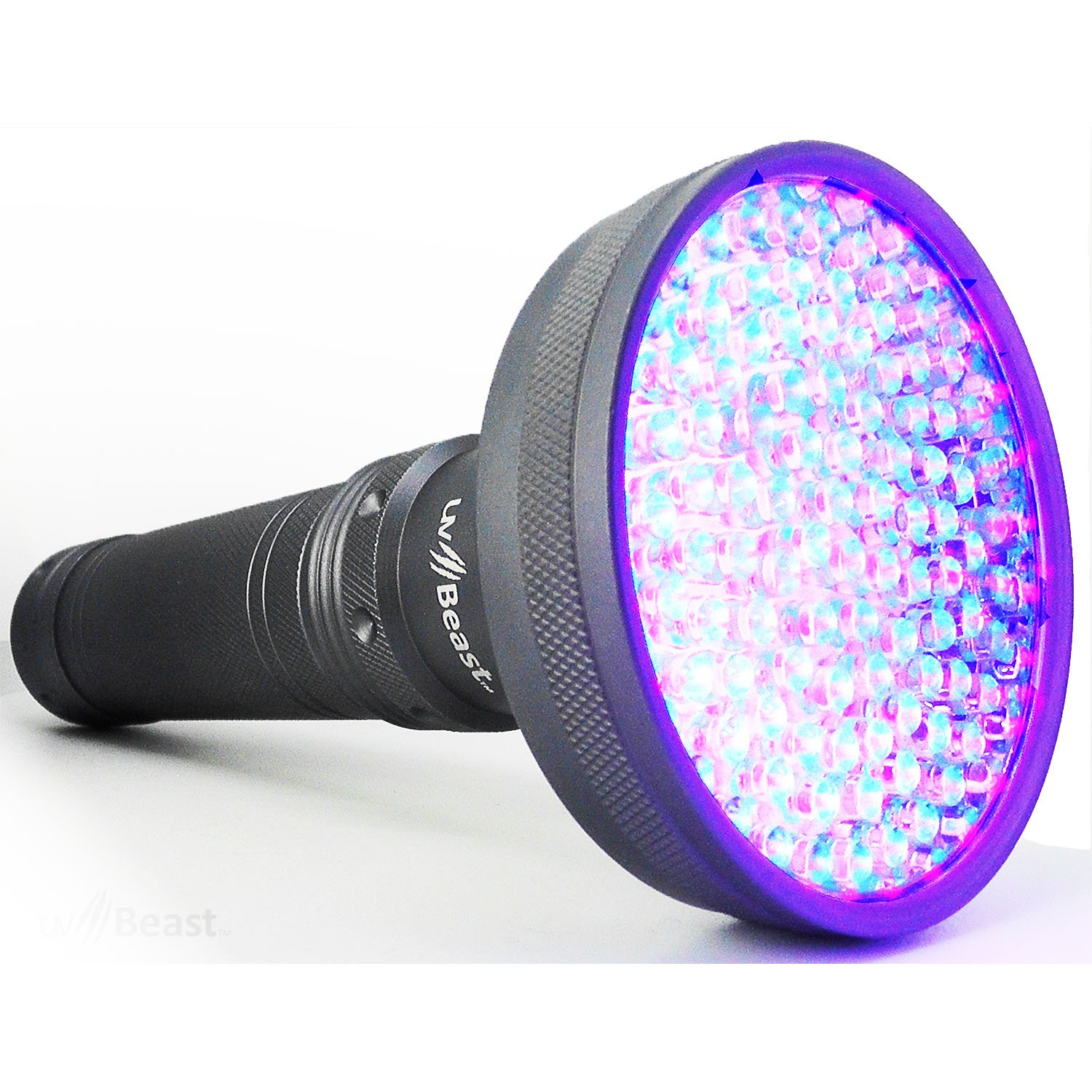 uvBeast NEW VERSION 2 - Black Light UV Flashlight with HIGH DEFINITION 100 LED with Flood Effect 385-395nm UV Best for Commercial/Domestic Use Works Even in Ambient Light - Registered Design
