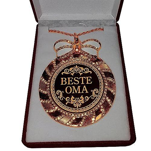 Medalla en cadena con cristales en estuche de terciopelo La ...