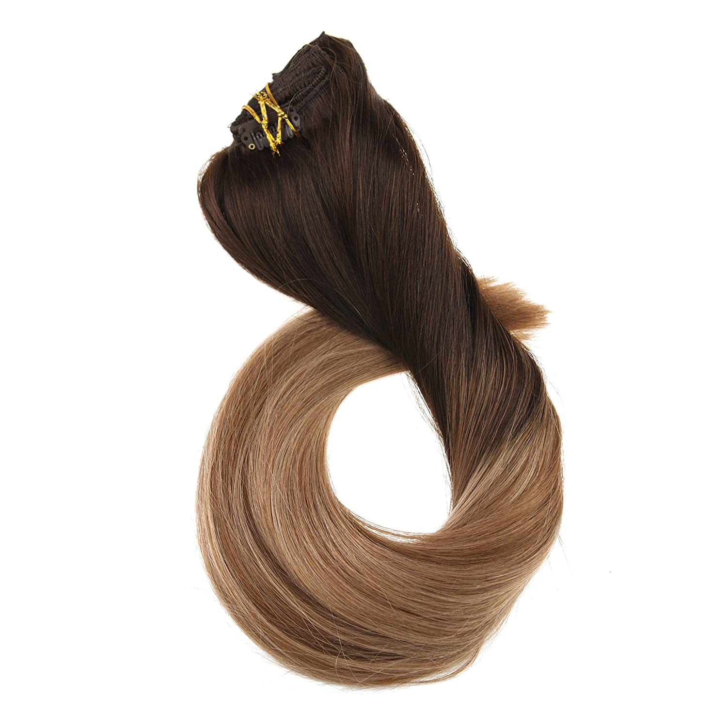 Ugeat 20inch 10pcs 160gram Clip In Remy Human Hair Extensions