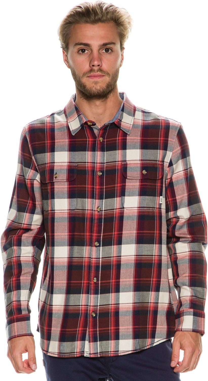 Vans Men's Elm Bordeaux Button-up Shirt SM