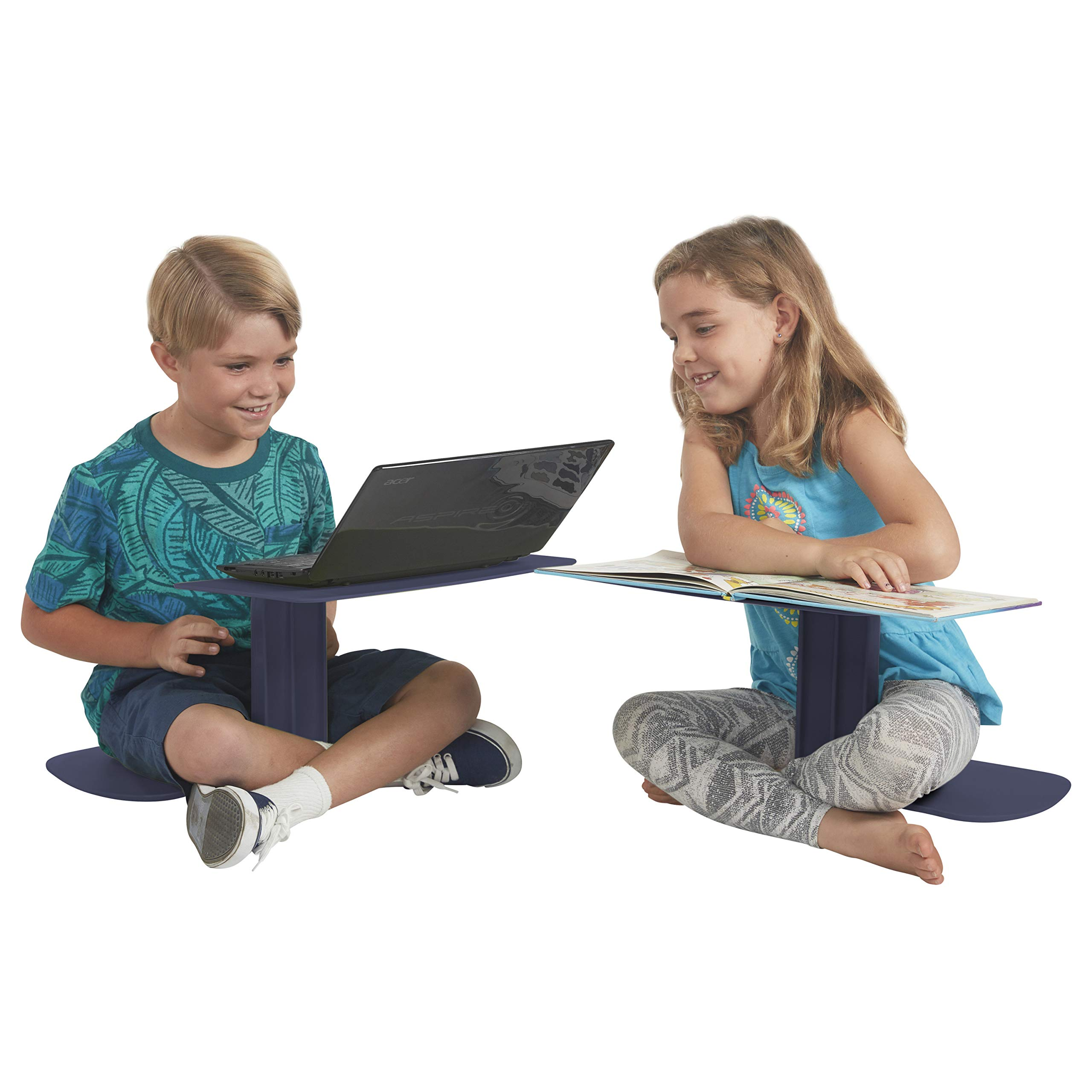 ECR4Kids The Surf Portable Lap Desk/Laptop Stand/Writing Table, Navy by ECR4Kids (Image #12)