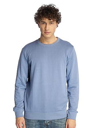 JACK   JONES Herren Sweatshirt O-Neck Basic Sweater Pullover (XS, Infinity) dea6a46d04