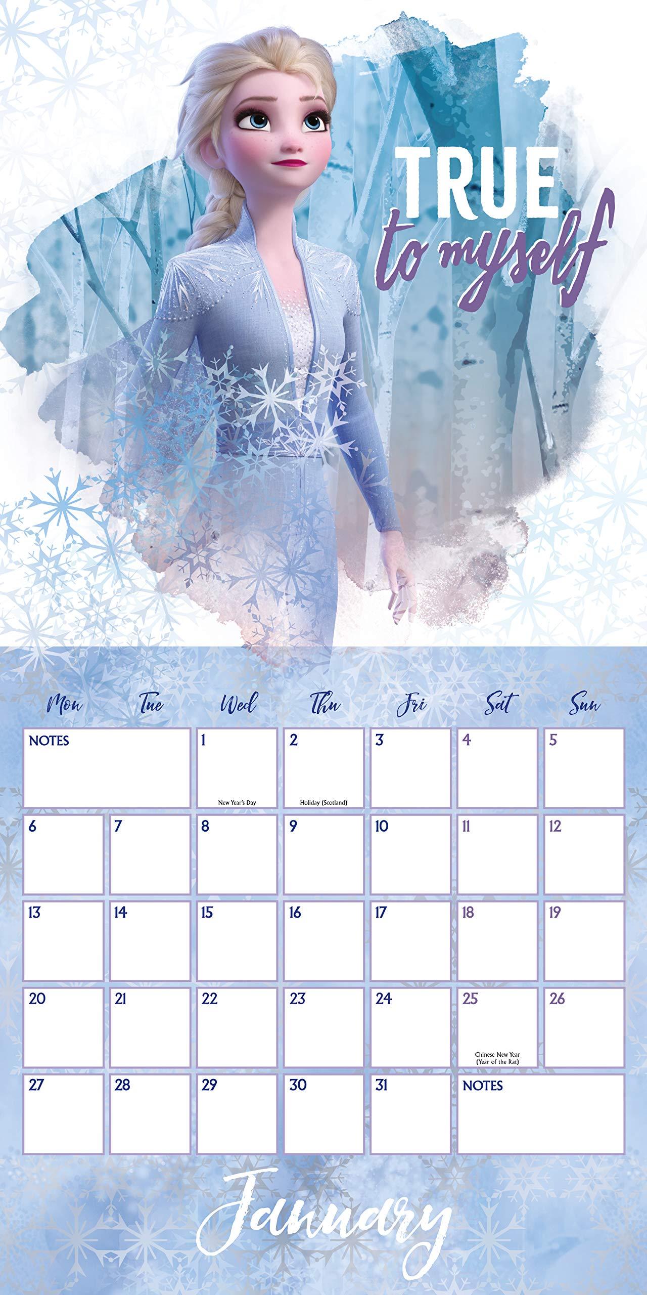 Disney Frozen 2 2020 Calendar - Official Square Wall Format ...