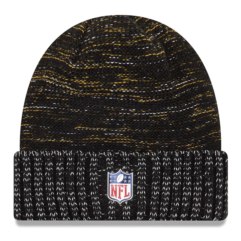 56ffb5ee7 New Era Pittsburgh Steelers Knit Beanie Cap Hat NFL 2017 Color Rush  11461025 Black