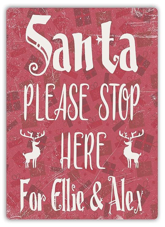 LORENZO Santa Please Stop Vintage Metal Cartel de Chapa ...