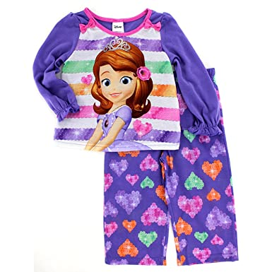 ae8215172b Amazon.com  Disney Sofia The First Girls Poly Pajamas (2T