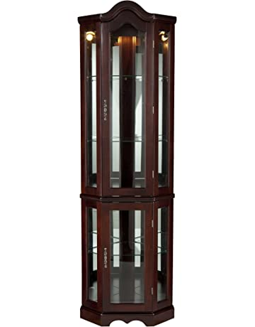 441166f4c56e Southern Enterprises Lighted Corner Curio Cabinet