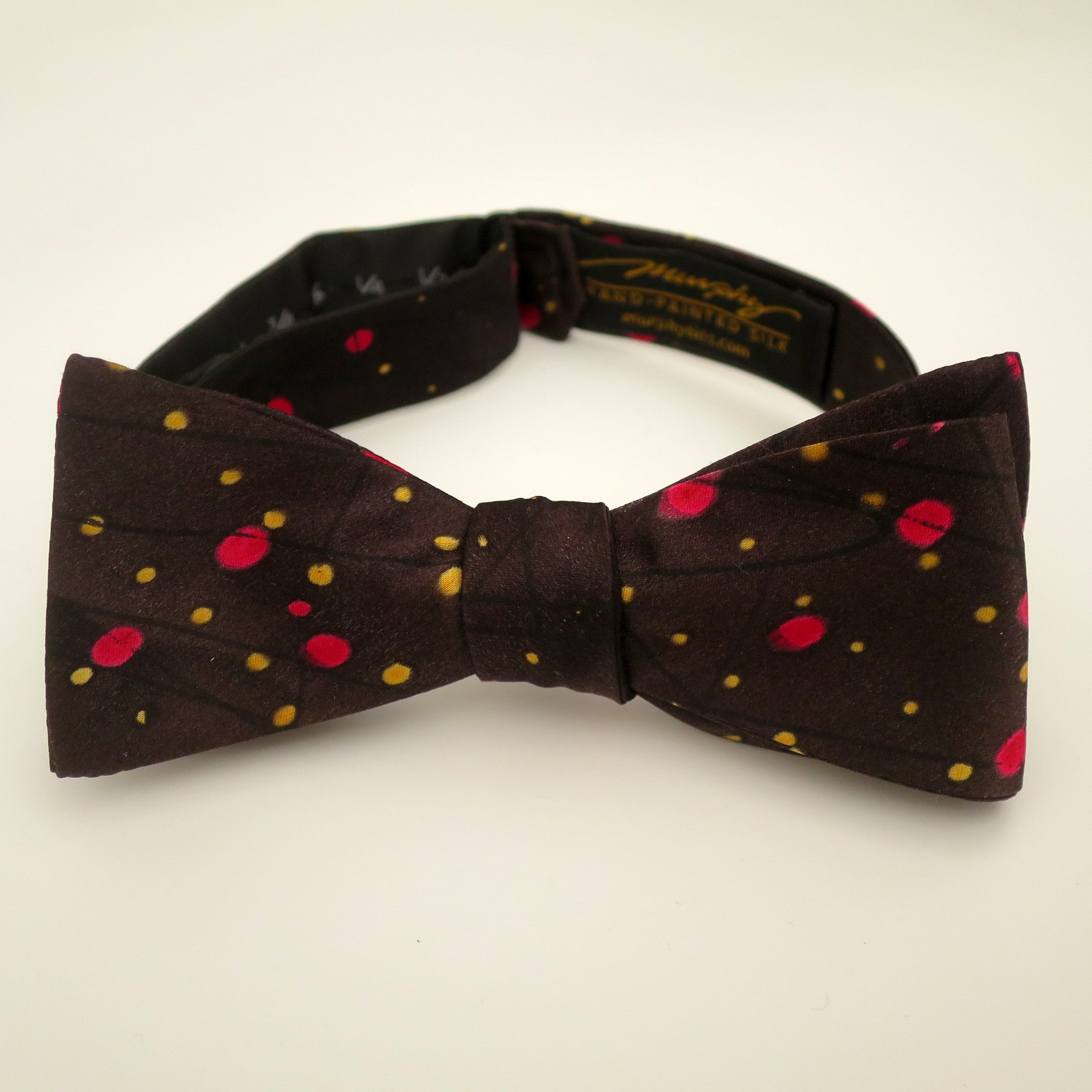 100% Silk Hand-Painted Hand-Made Men's Self Tie Bow Tie ''Constellation'' Art to Wear by Murphyties