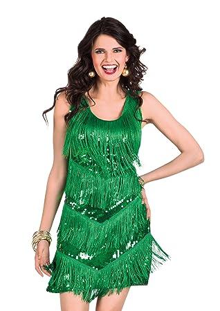 Boland Generique - Traje Charleston 20s verde Mujer Talla: Amazon ...
