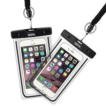 cb252861f95 EOTW Funda Bolsa Impermeable Móvil 2 Pack Bolsa Estanca para Samsung S7 S8  J7 J5 Huawei P9 P8 Honor V8 iPhone 6 6S Plus ...