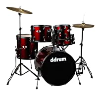 ddrum D120B BR D Series 5 Piece Drum Set Complete, Red<br />