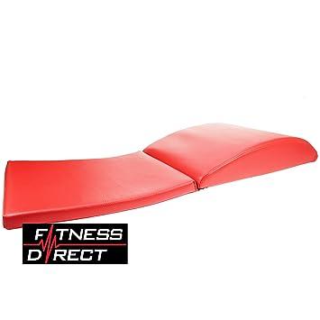 Fitness Directa AB Mat Pad con cojín Rojo de Sit Up Core de ...