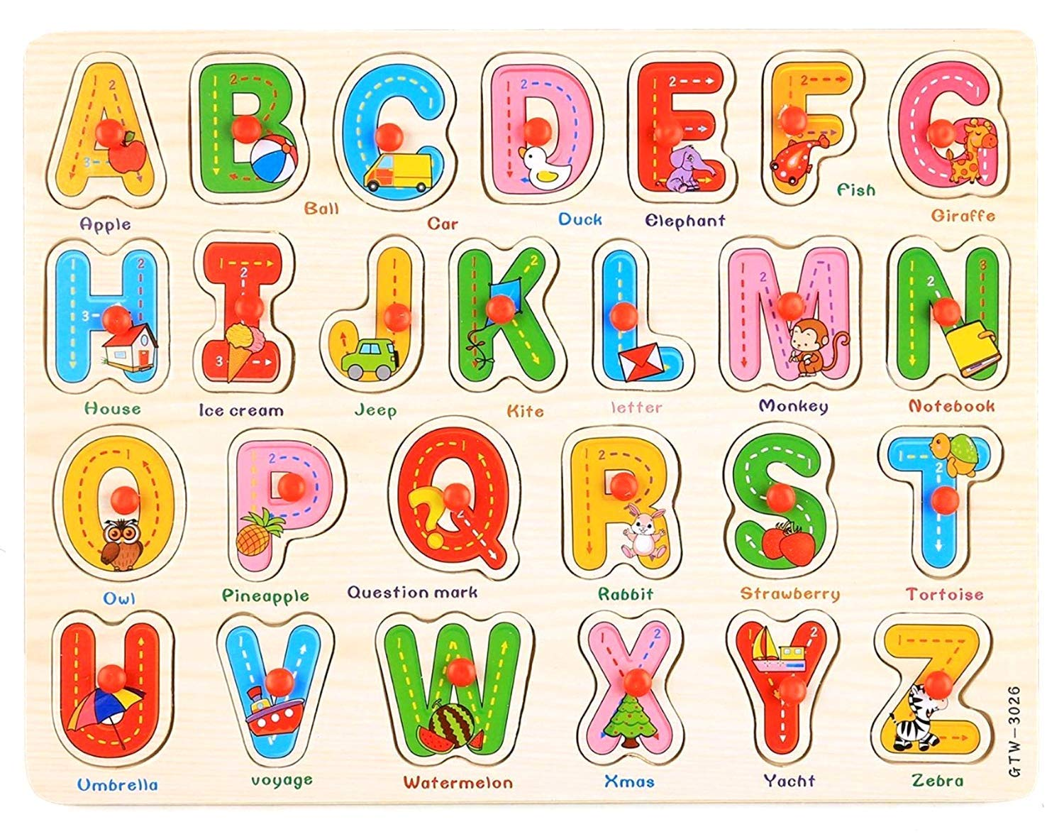 Buy Mag Creations Wooden English Alphabet A to Z Early