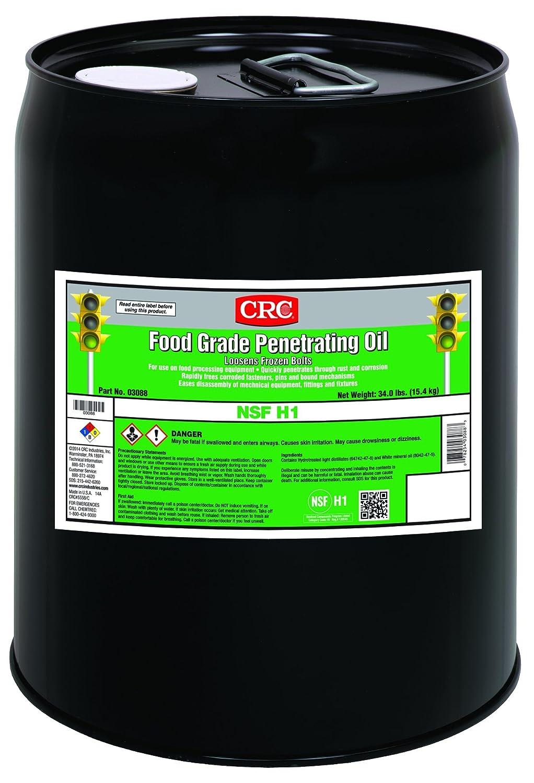 CRC Food Grade Penetrating Oil, 5 Gal, 03088