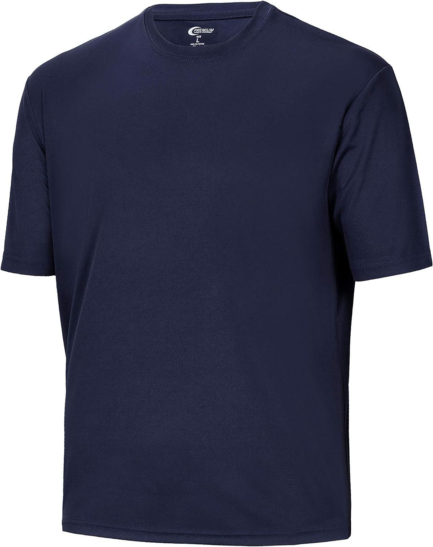 Mens Moisture Wicking Athletic T Shirts Big Tees - Short Sleeve - Nice