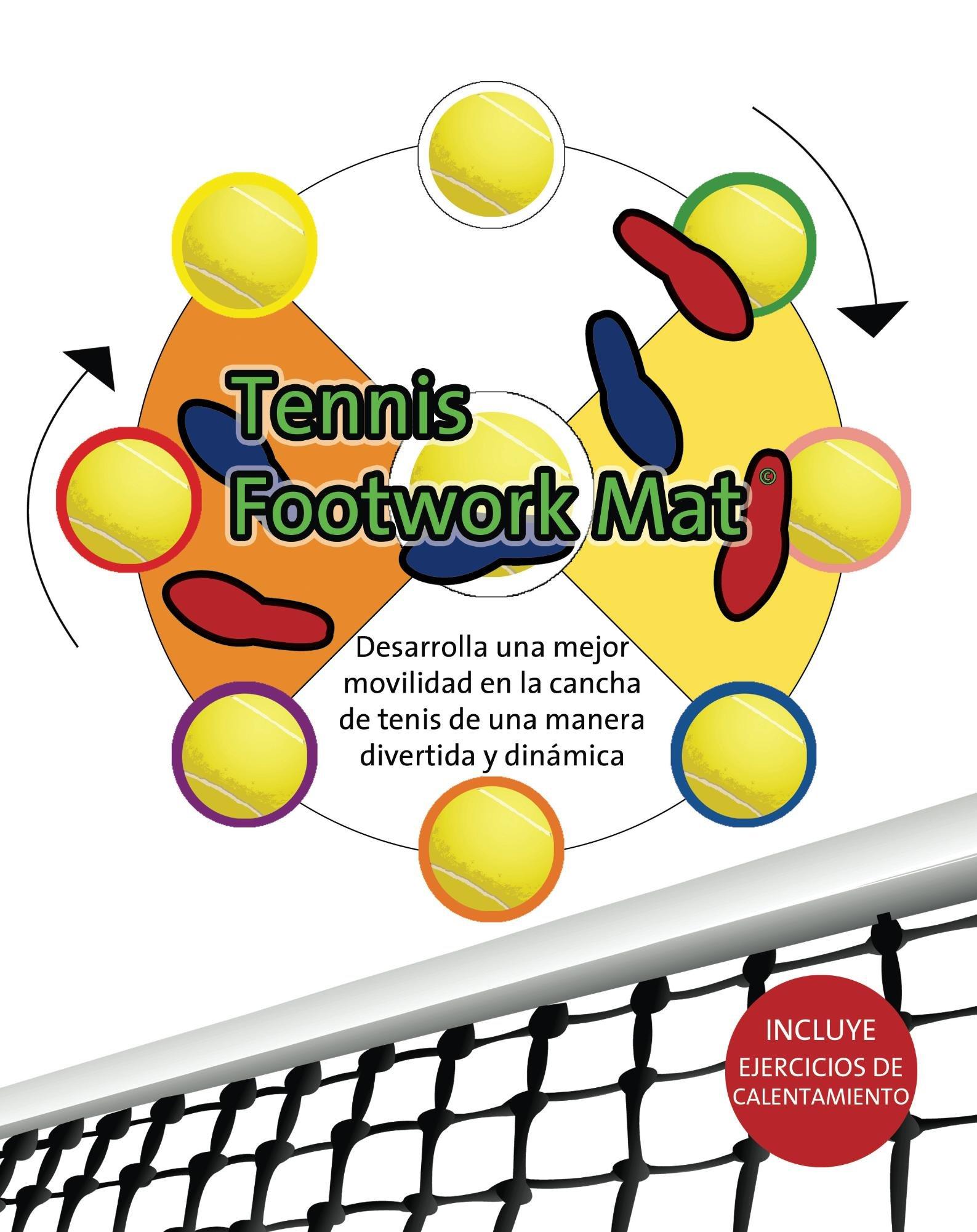 Tennis Footwork Mat en Español: Desarrolla movilidad en la cancha con una pelota de soccer