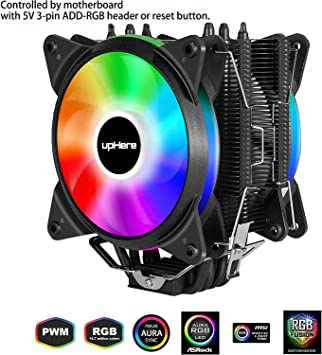 upHere 4 Heatpipes Ventilador de CPU con Doble ARGB LED ...
