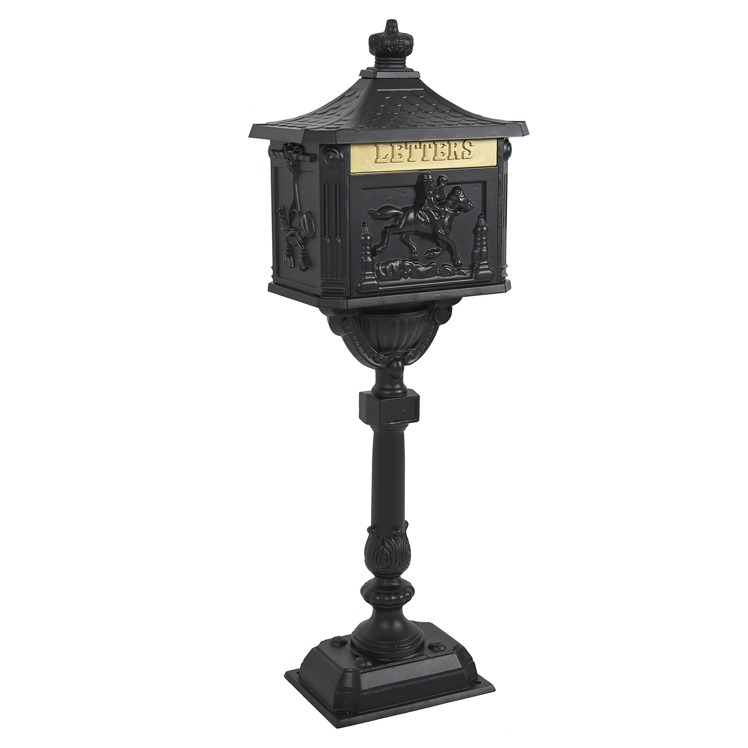 Best Choice Products Cast Aluminum Heavy Duty Mailbox Black Postal Box by Best Choice Products