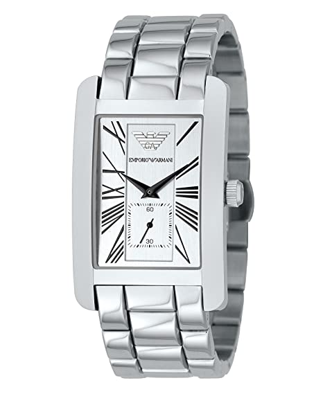 Amazon.com: Emporio Armani Mens AR0145 Classic Stainless Steel Roman Numeral Dial Watch: Armani: Watches