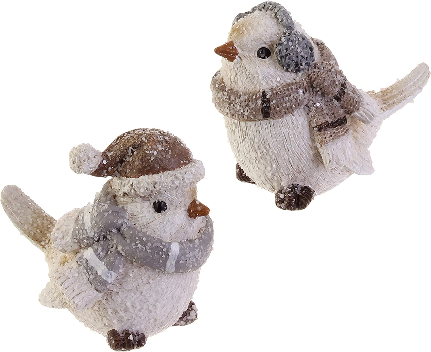 RAZ Imports Wintry White Resin Bird Figurines - Set of 2 Assorted