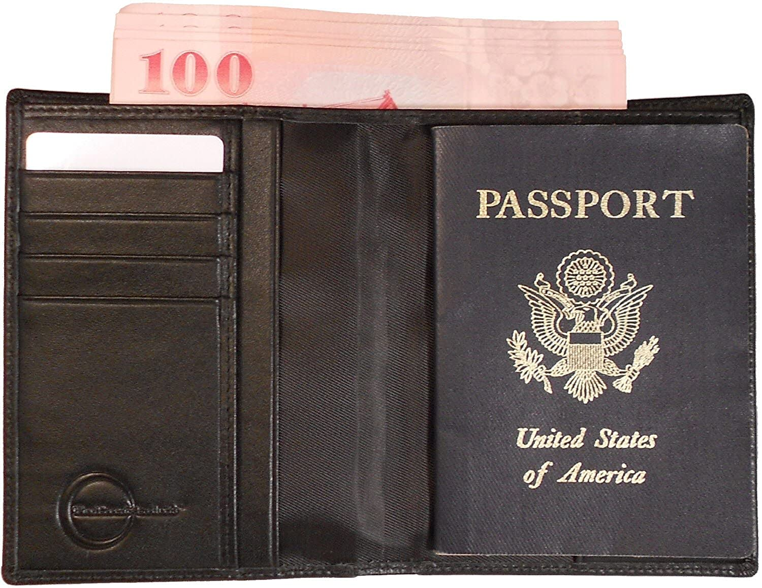 Travel Wallet and Passport Cover -RFID Blocking, Black Leather Ideal for Men or Women Class:1A
