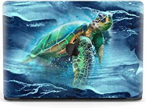Mertak Hard Case for Apple MacBook Pro 16 Air 13 inch Mac 15 Retina 12 11 2020 2019 2018 2017 Waves Marine Cover Plastic Blue Swimming Design Laptop Clear Ocean Turtle Touch Bar Sea Protective Print