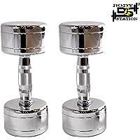 Bodystation Steel Dumbbells Set (Pack of 2) (3Kg - 40Kg)