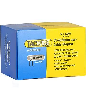 Tacwise 0351 Grapas para Cables galvanizadas y de Puntas divergentes CT-45/8 mm