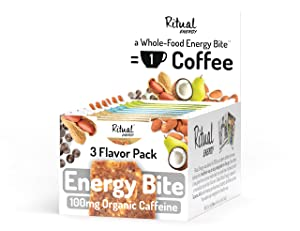 Ritual Energy Whole Food Energy Bite, 3 Flavor Variety (10 Pack)