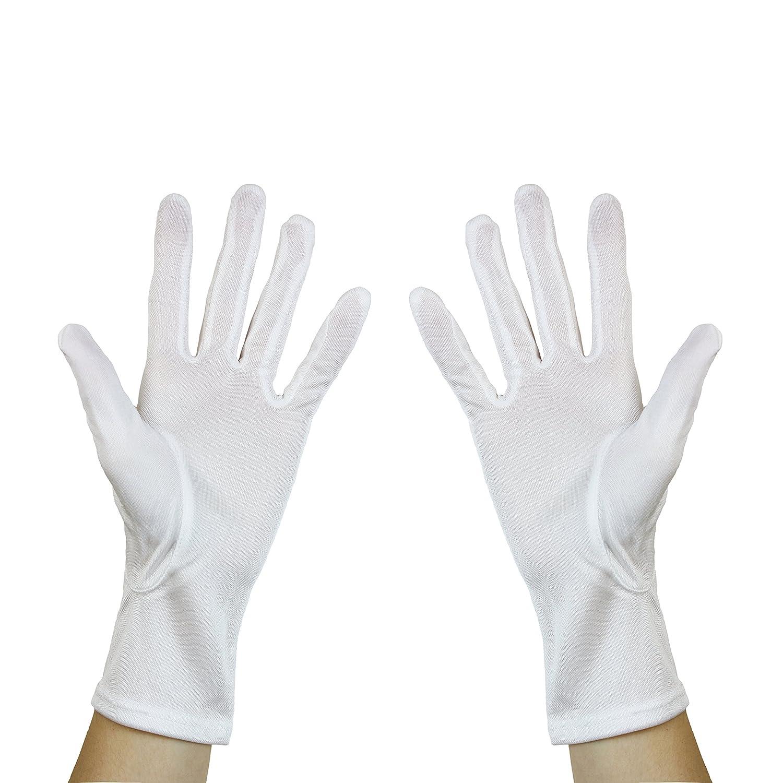Thick White Cotton Gloves Moisturising Eczema Butler Beauty Waiters  UK Stock