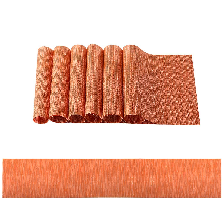 OSVINO tapete de Mesa Rectangular de bambú, Resistente a Las ...