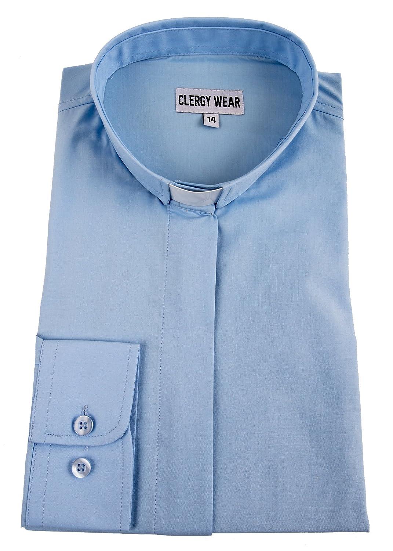 Amazon Mercy Robes Womens Long Sleeve Tab Collar Clergy Shirt