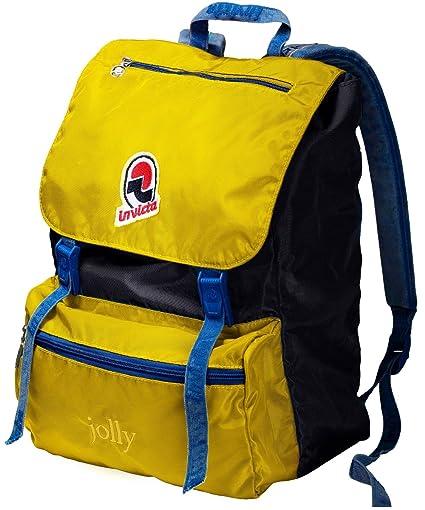 foto ufficiali 213d6 19080 Zaino tempo libero e scuola INVICTA - JOLLY III VINTAGE - giallo blue  original Porta PC