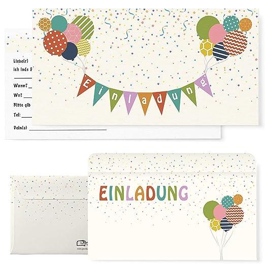Postkartenschmiede 12 Einladungskarten Kindergeburtstag Mit