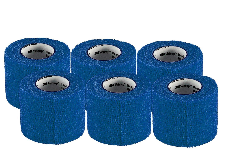 3M Vetrap 2'' Bandaging Tape, 2''x 5 Yards (6-Pack, Blue)