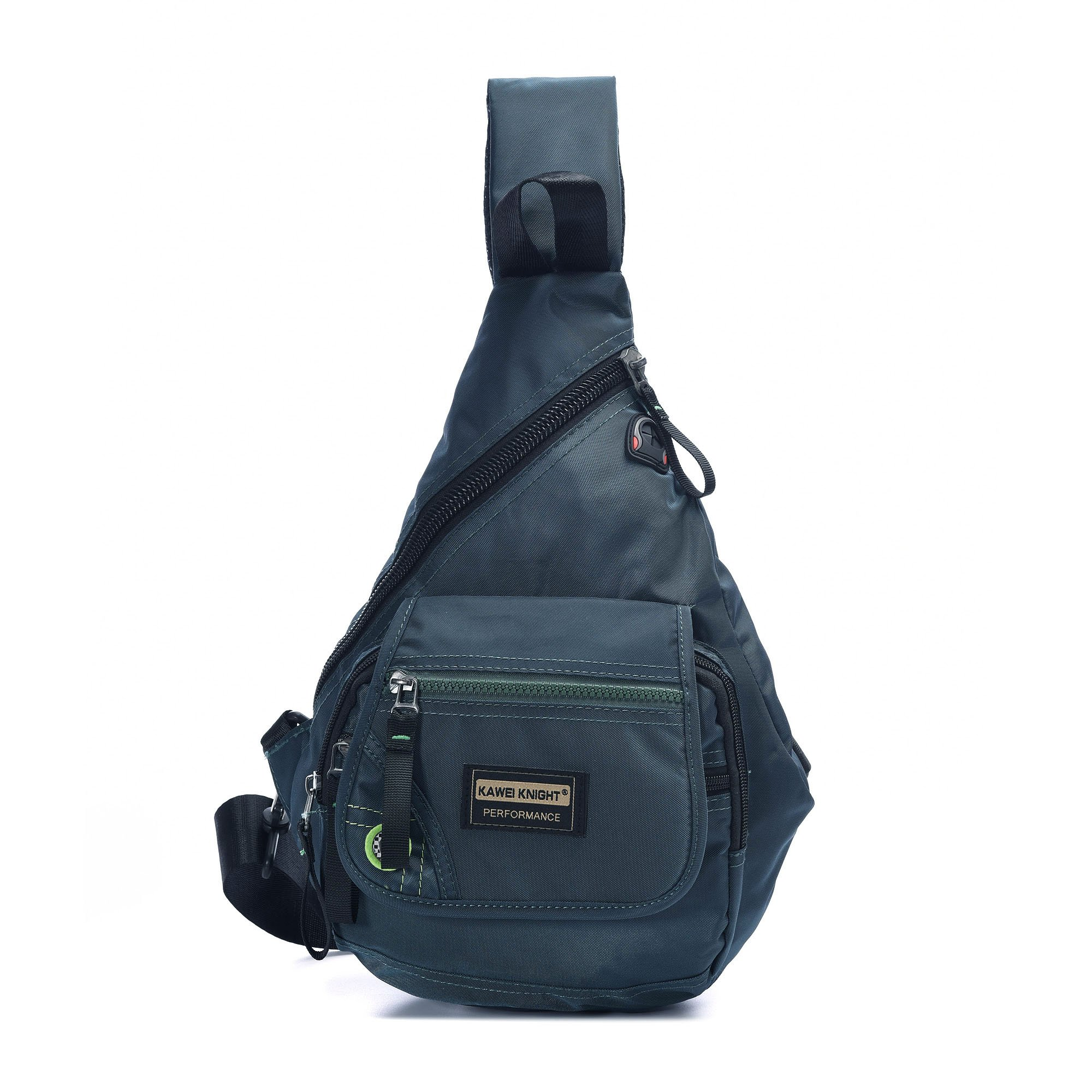 DDDH Small Sling Bag Shoulder backpack Waterproof Nylon Outdoor Chest Bagpack For Men Women (dark green)