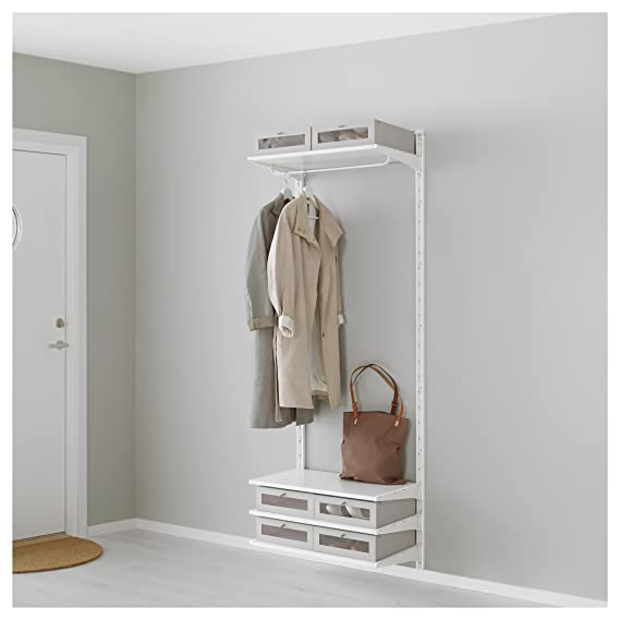 IKEA Algot - pared vertical / estantes / varilla blanca ...