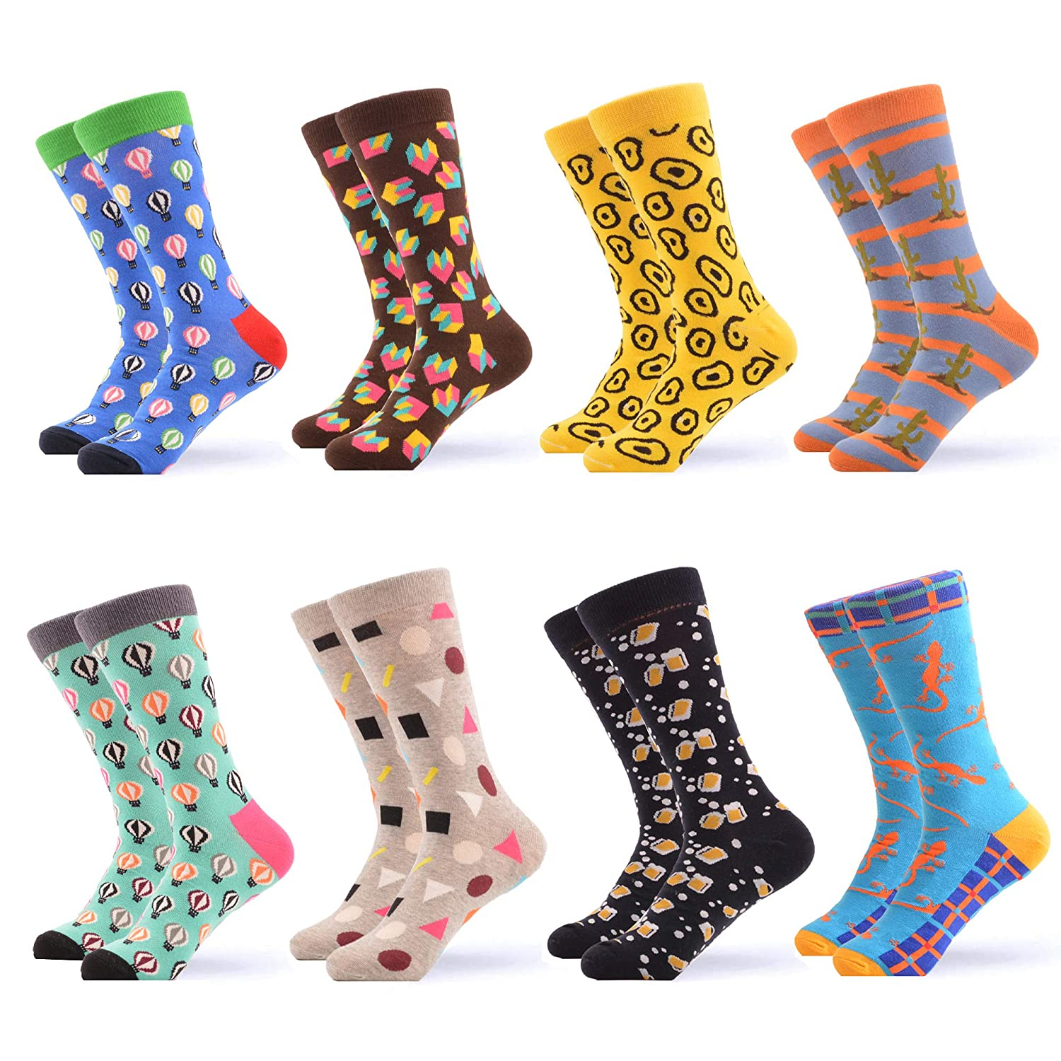 05861 WeciBor Women's Funny Casual Combed Cotton Socks Packs