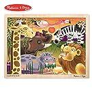 Melissa & Doug African Plains Wooden Jigsaw Puzzle (Preschool, Sturdy Wooden Construction, 24 Pieces, 15.55″ H × 11.6″ W × 0.35″ L)