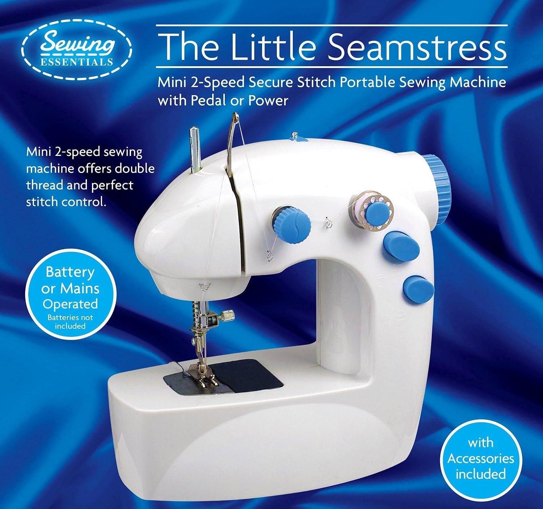 mini máquina de coser, 2 Velocidades de corriente eléctrica o ...