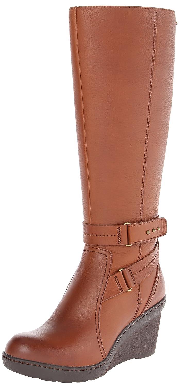CLARKS Women's Natira Kae GTX Wedge Boot B00HWZRE28 9 B(M) US Brown Leather