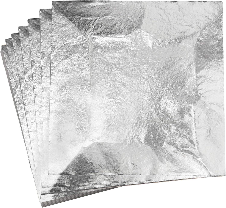 100 Sheets Copper Gold Sliver Leaves Leaf Foil Paper Edible Gilding Craft Decor
