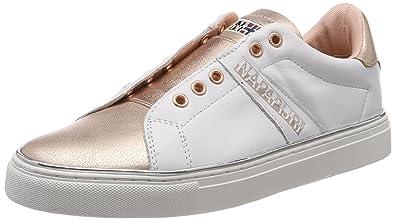 Footwear Alicia, Mocassins Femme, Weiß (White/Silver), 41 EUNapapijri