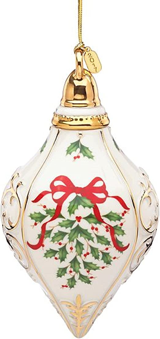 Lenox 2017 Annual Holiday Ornament Holly and Berries New in Box