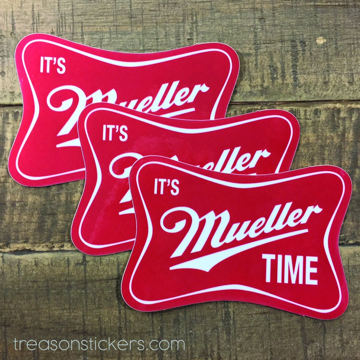 It's Mueller Time Sticker 3 Pack